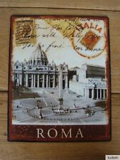 Nr.H3339 Roma - SCHILD - Blechschild - Nostalgie - Rom - Italien