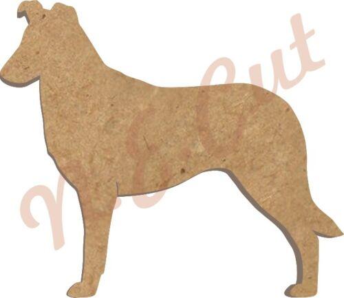 10 Smooth Colley MDF Cutouts keyring//embellishing 5 sizes Hole dogw 245