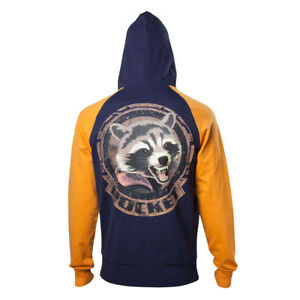 Details about Marvel Guardians Of The Galaxy Vol.2 Rocket Mens Cotton Hoodie Jumper