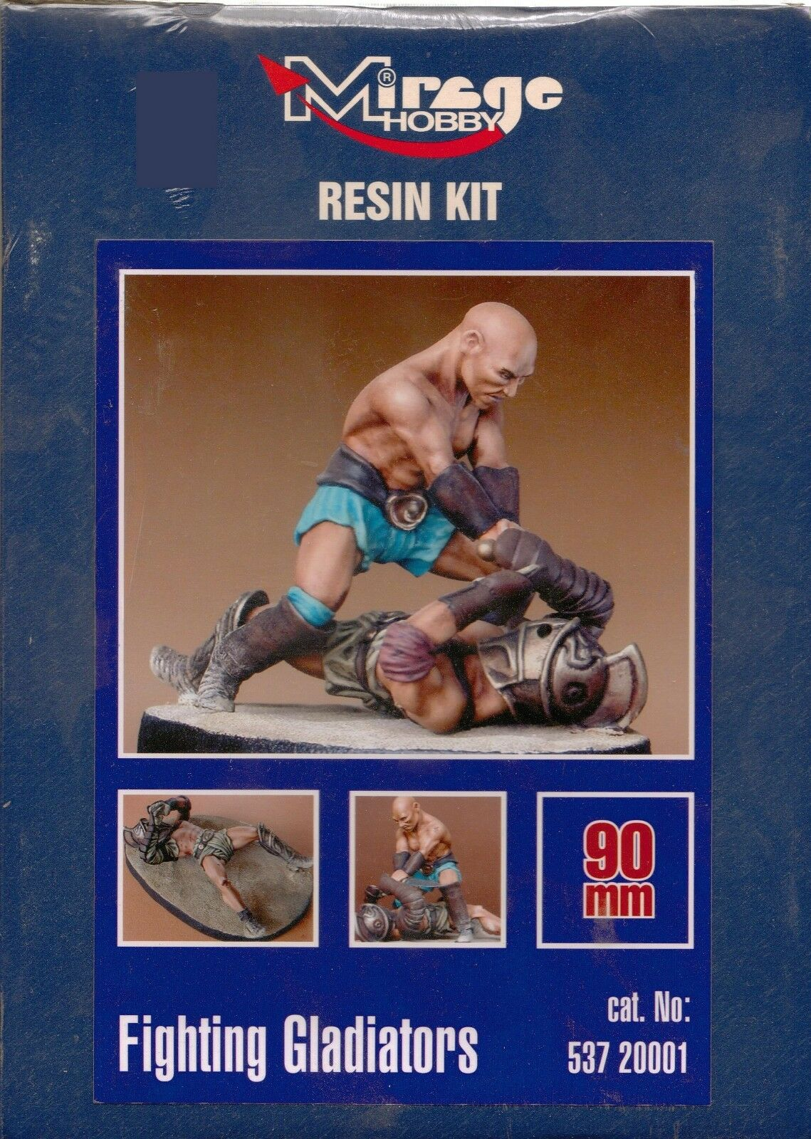 90mm 2 Gladiators fighting, 2 Figure Set Resin Model Kit.