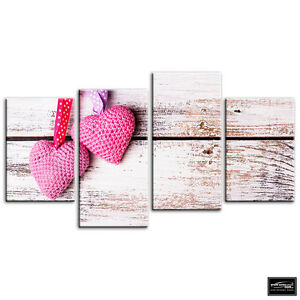 Superb Details About Shabby Chic Hearts Vintage Box Framed Canvas Art Picture Hdr 280Gsm Home Interior And Landscaping Ponolsignezvosmurscom