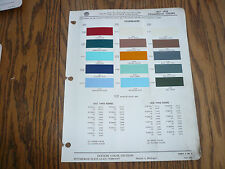 1957 1958 Studebaker Ditzler Commercial Color Chip Paint Sample