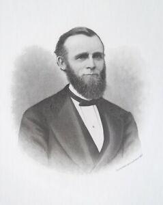 PAUL-CORNELL-Chicago-Hyde-Park-amp-Cornell-Suburb-Founder-1876-Portrait-Print