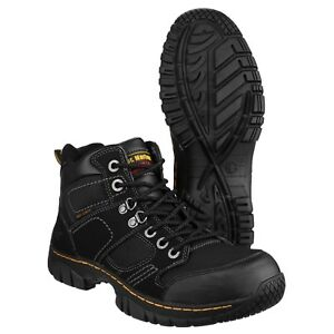 e51010facdd Details about Dr Martens Benham Safety Boots Lightweight Hiker Steel Toe  Cap Mens Work Shoes