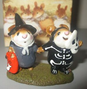 Wee-Forest-Folk-Mouse-Figurine-LITTLEST-WITCH-amp-SKELETON-M155-Halloween-New-NIB