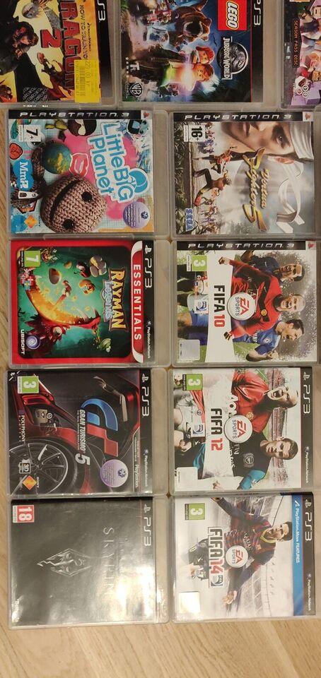 Playstation 3, Playstation 3 inkl 16 spil, Perfekt