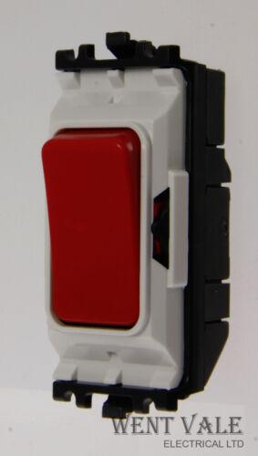 20a Double Pole Push to Break Switch Module New MK Grid Plus K4915 RED