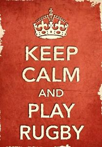 ACR5-Vintage-Style-Red-Keep-Calm-Play-Rugby-Sport-Funny-Poster-Print-A2-A3-A4