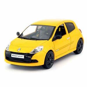 Renault-Clio-R-S-2009-Jaune-NOREV-echelle-1-43-Diecast-Voiture-Modele