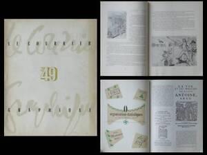 Courrier Graphique, N°49, 1950 Fonderie Typographique Francaise, Rabelais Divers Styles
