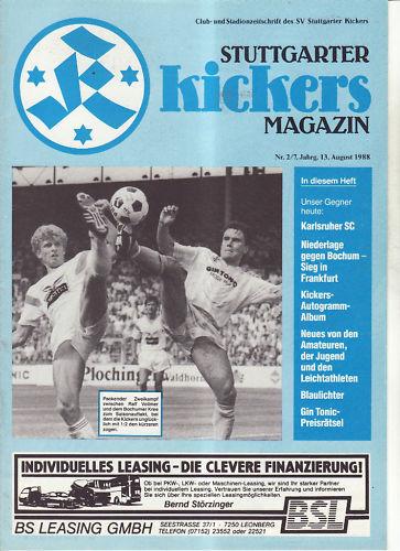 BL 88/89 Stuttgarter Kickers Karlsruher SC Fußball-Fanshop