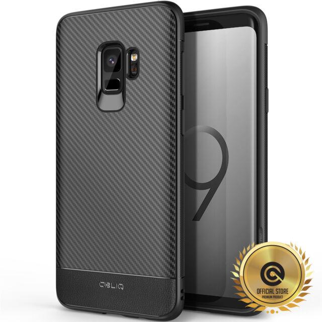 OBLIQ® Samsung Galaxy S9 [Flex Pro] Black TPU Shockproof Slim Case Cover Carbon