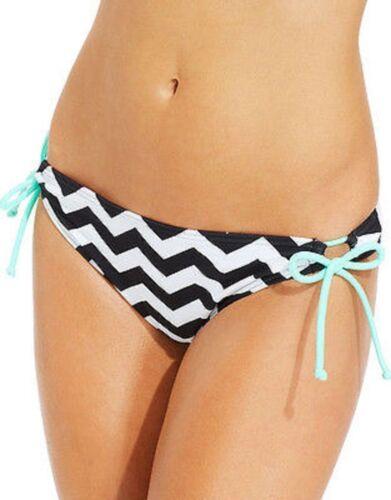 White Black Mint X-SMALL Hula Honey SIDE TIE HIPSTER Swimsuit BIKINI BOTTOM New!