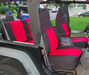 Swell Details About Jeep Wrangler Tj Neoprene Seat Cover Full Set Front Rear 1998 1999 Red Tj127R Dailytribune Chair Design For Home Dailytribuneorg