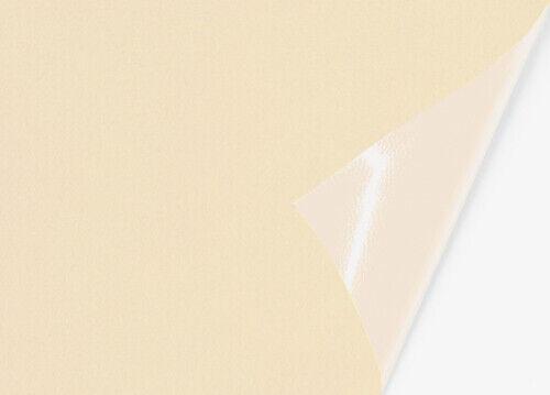 70 x 144 cm Velour-Optik Folie 25€//m²  Microfaser-Stoff selbstklebend creme