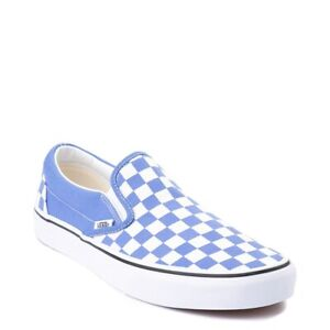 Details about NEW Vans Slip On Ultramarine Blue Checkerboard Skate Shoes Womens