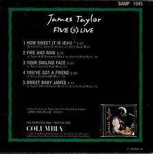 JAMES TAYLOR five (5) live CD PROMO cardboard sleeve