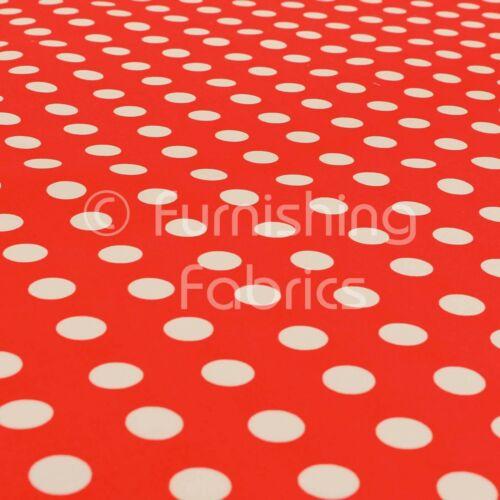 New Red White Spotted Pattern Printed Velour Velvet Upholstery Curtain Fabrics