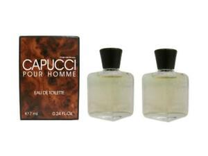 CAPUCCI POUR HOMME Lot of 2 x 7 ml Eau de Toilette for Men Damage Box By Capucci