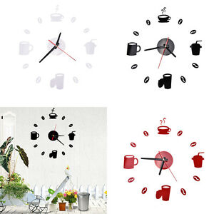 3D-Wall-Clock-DIY-Modern-Mirror-Watch-Surface-Sticker-Home-Room-E9C