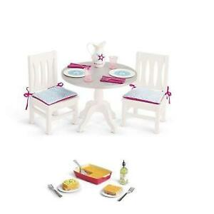 American Girl Doll Dining Set And Lasagna Dinner Set Both New Ebay