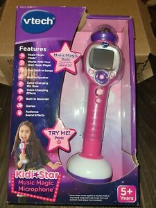 Details about VTech Kidi Star Music Magic Microphone Color Pink Brand New Box Kids Toy Karaoke