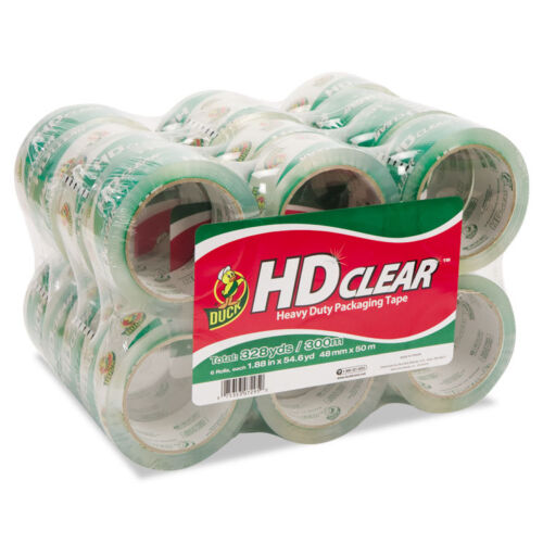 """Duck HeavyDuty Carton Packaging Tape, 1.88"""" X 55yds, Clear, 24pack"""