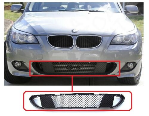 BMW 5 E60 E61 2003-2010 M SPORT FRONT BUMPER CENTER+LH+RH LOWER GRILL TRIM