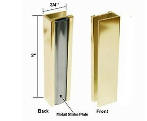 Bright Gold Shower Door U Channel With Metal Strike Ebay