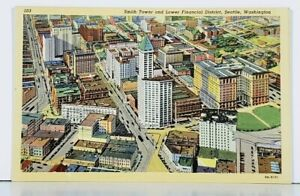 Washington-Smith-Tower-and-Lower-Financial-District-Seattle-Postcard-J11