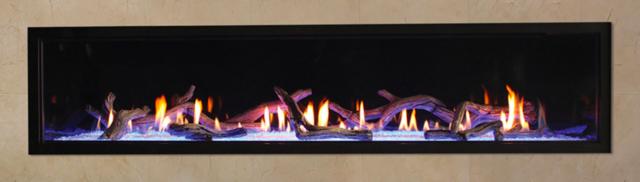 Empire Boulevard 72 Linear Direct Vent Fireplace Modern Led Light