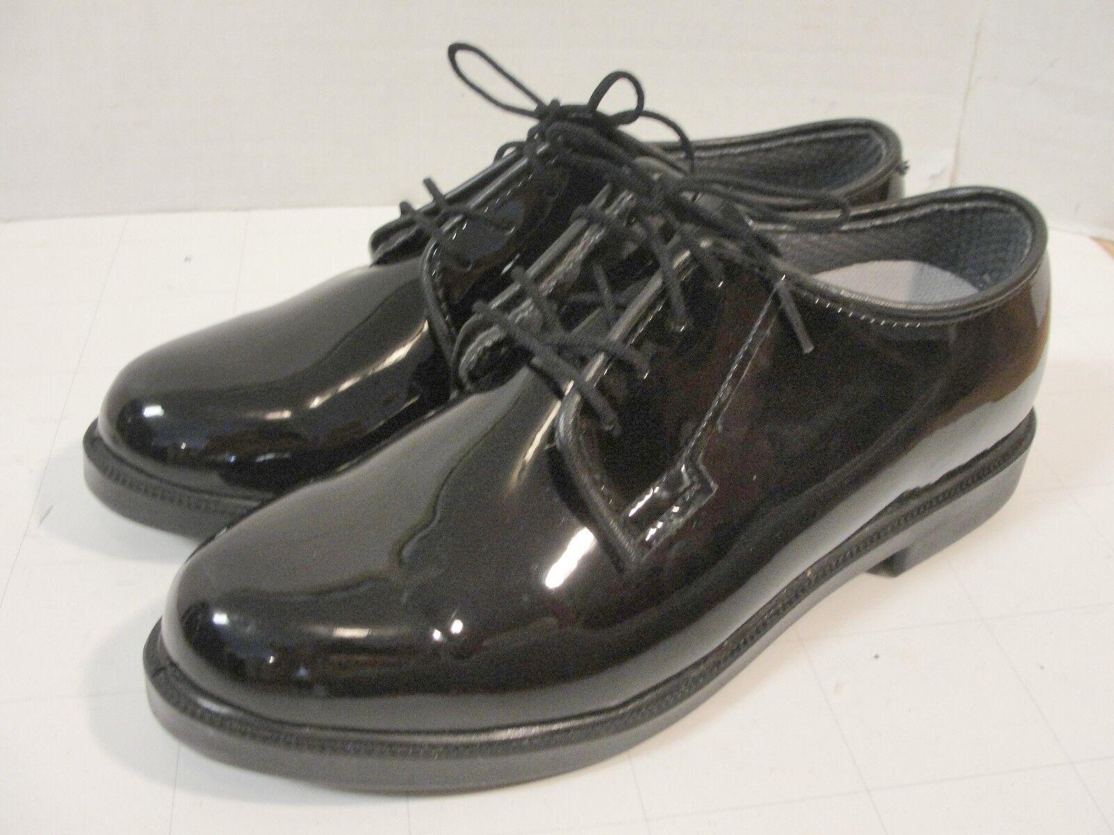 New Bates Durashocks Black Dress Shoes Patent Leather High Gloss Size 7 M 00742