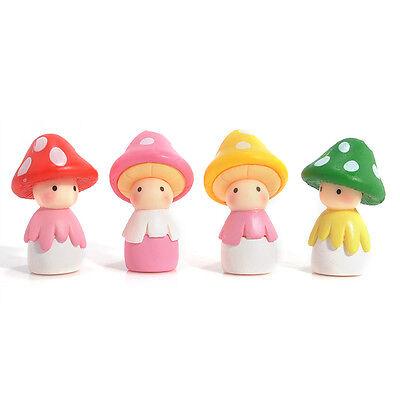 Cute Mini Resin Mushrooms Doll Fairy Garden Bonsai House Miniature Decor Toy