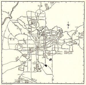 Details about 1935 Antique Street MAP of ATLANTA Georgia Vintage Atlanta  City Map #6461