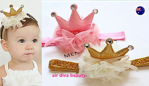 NEW-Girl-Kid-Child-Baby-Shower-birthday-Party-Crown-Tiara-Hair-Head-Band-Prop