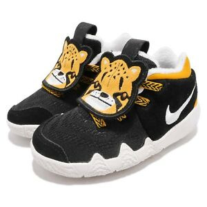 f223cf3270f4 Nike Kyrie 4 LB Little Beast Big Cats Black Yellow Toddler Shoes ...