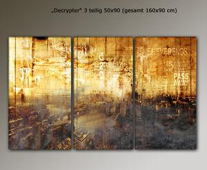 DESIGNBILDER- WANDBILD City London abstrakt Wohnzimmer Kunst - 160x90cm  eBay