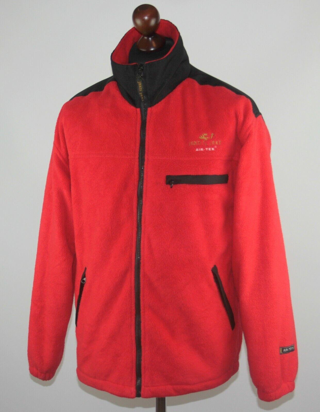Jahti Jakt Finland hunting mens rot fleece jumper jacket Größe S Air-Tex