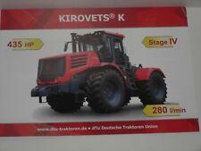Kirovets K 435 Hp Kink Handlebar Tractors Tractors Brochure 2644