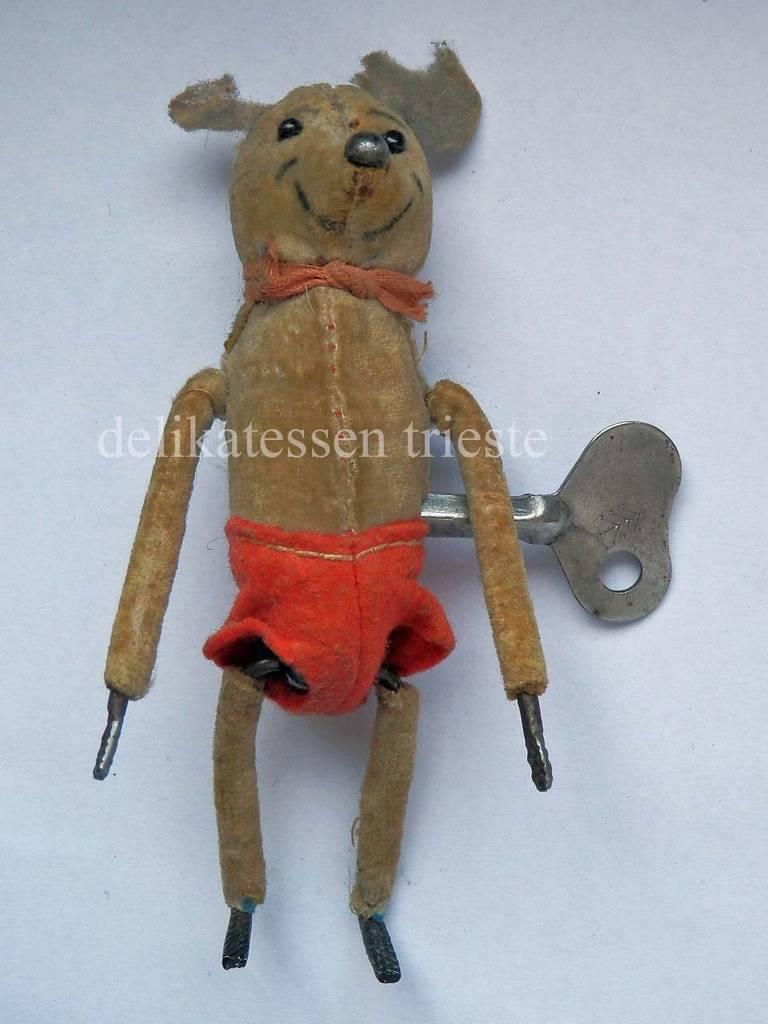 Soportar Cachorro de Oso Teddy Bear Mechanical Schuco Juguete Antiguo Antique