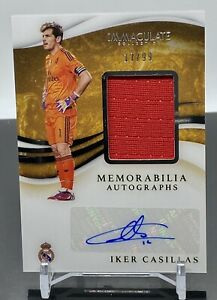 2020 Panini Immaculate IKER CASILLAS Real Madrid PATCH AUTO #/99 SPAIN Rare