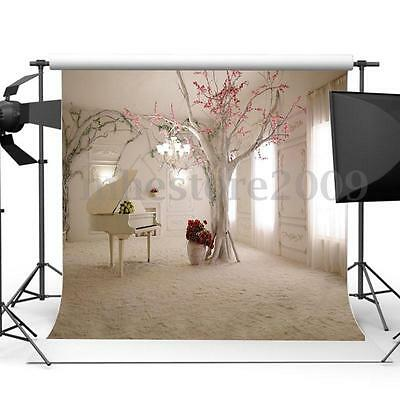 10x10ft Vinyl White Piano Room Backdrop Photography Background Studio Photoprops