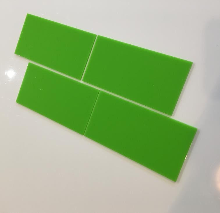 Rectangular Acrylic Wall Tiles - Lime Grün