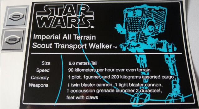 ERSATZ Aufkleber//Sticker für LEGO 10143 UCS Death Star II Star Wars