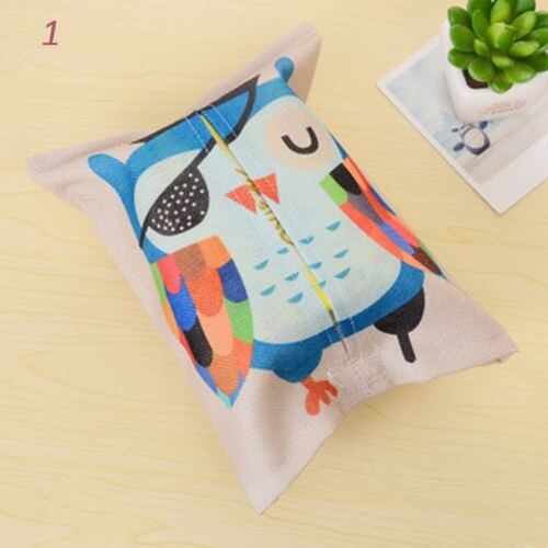 Cover Case Boxes Home Removable Office Animal Tissue Paper Box Cartoon Linen