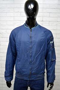 Giubbino-Uomo-DIESEL-Taglia-Size-L-Giacca-Giubbotto-Cotone-Jacket-Man-Blu