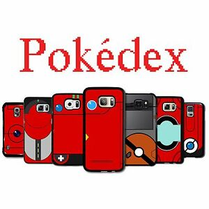 best website ea054 0209b Details about Pokedex Pokemon Case Galaxy S3 S4 S5 S6 S7 S8 Plus Active  Edge Note 2 3 4 5