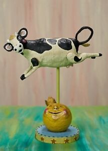 Details About 11067 Cow Jumped Over The Moon Lori Mitchell Folk Art Figure Nursery Rhyme Fairy