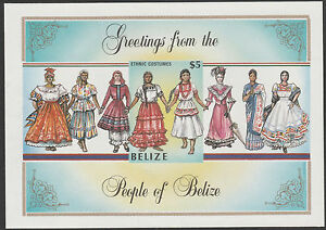 Belize-1768-1986-COSTUMES-IMPERF-m-sheet-unmounted-mint