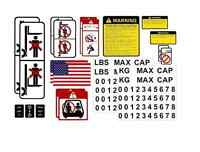 Forklift Safety Decal Kit Usa Safety Osha Approved Bring 2 Set On The Package